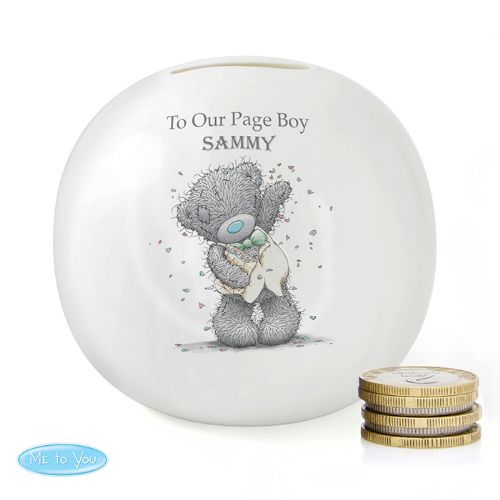 Personalised Me To You Male Wedding Money Box